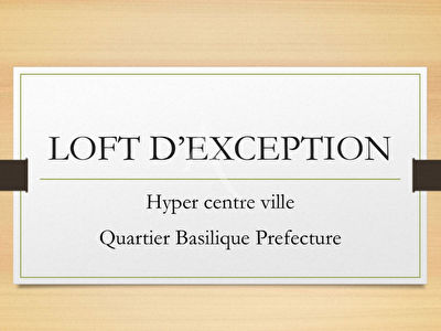 LOFT D'EXCEPTION HYPER CENTRE, TERRASSE, STATIONNEMENT - Magnificent brand new loft  + Terrace + Parking